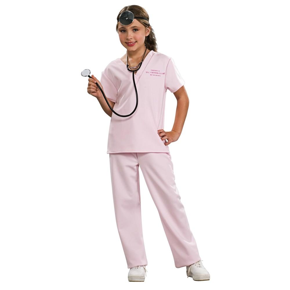 Girls Pink Vet Costume M(7-8), Variation Parent