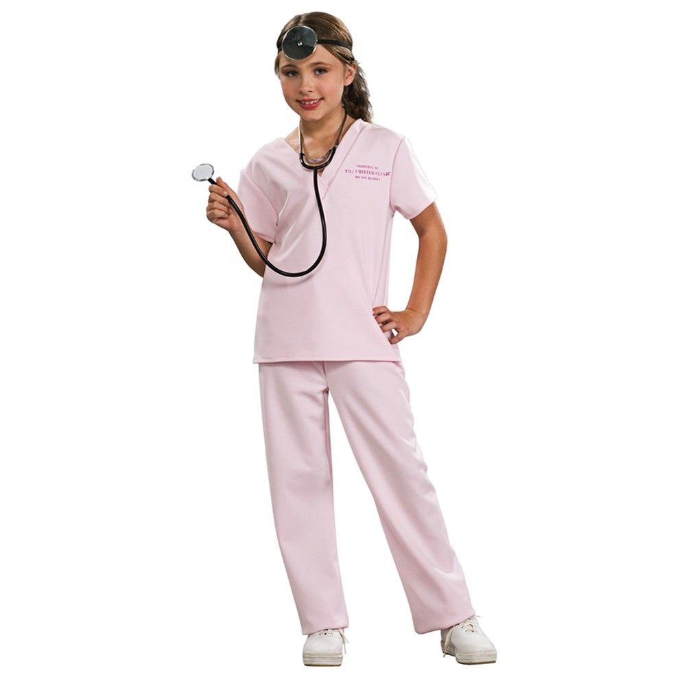 Girls Pink Vet Costume Small (4-6), Size: S(4-6), Variation Parent
