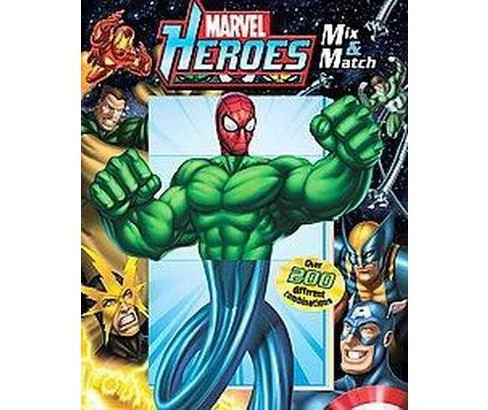 Marvel Heroes Mix & Match (Hardcover) (Michael Teitelbaum) - image 1 of 1
