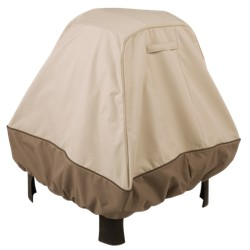 Classic Accessories Veranda Stand Up Fire Pit Cover - Beige