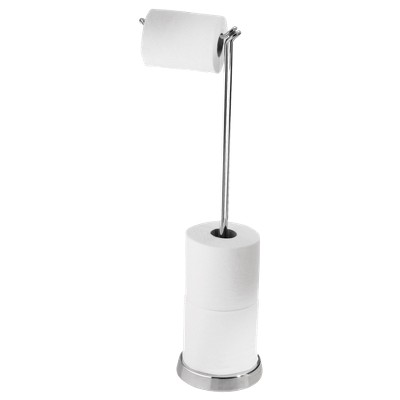Freestanding Toilet Tissue Holder Chrome 4 Roll InterDesign