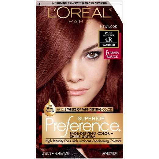 Auburn Hair Color Chart Loreal