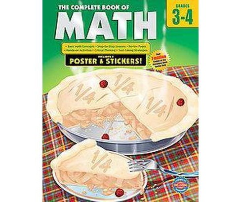 Complete Book of Math, Grades 3-4 (Workbook) (Paperback) - image 1 of 1