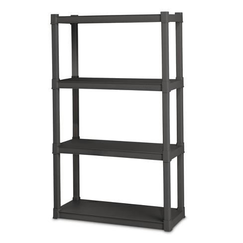 storage shelving units sterilite 174 4 shelf storage unit gray target 26896