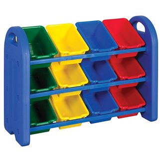 ECR4Kids® 3-Tier Storage Bin Organizer with 12 Bins