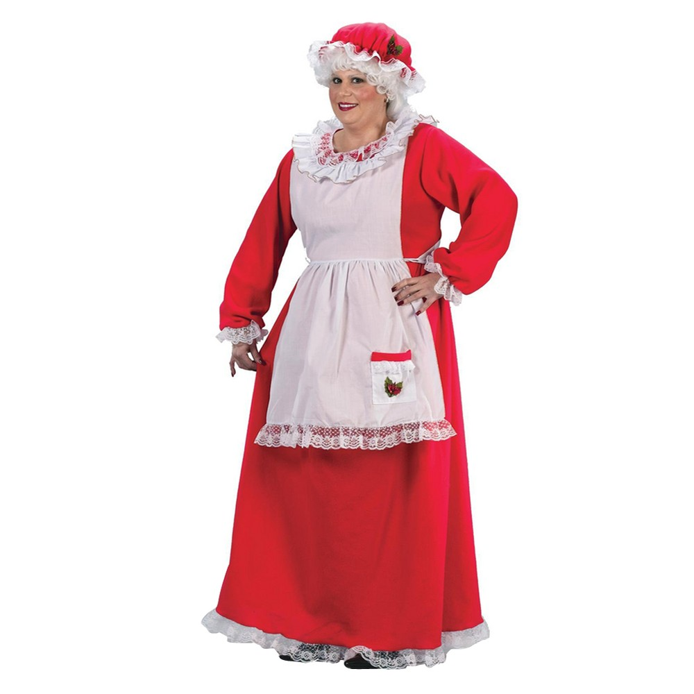 Womens Mrs. Claus Costume Plus Size, Size: Large