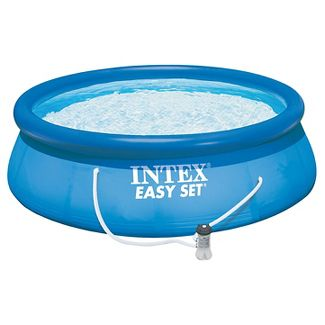 Intex 12 X 36u0022 Easy Set Inflatable Above Ground Pool with Filter Pump