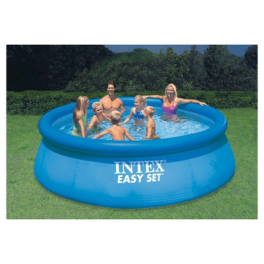 """Above Ground Inflatable Pools intex 12' x 36"""" easy set inflatable above ground pool with filter"""