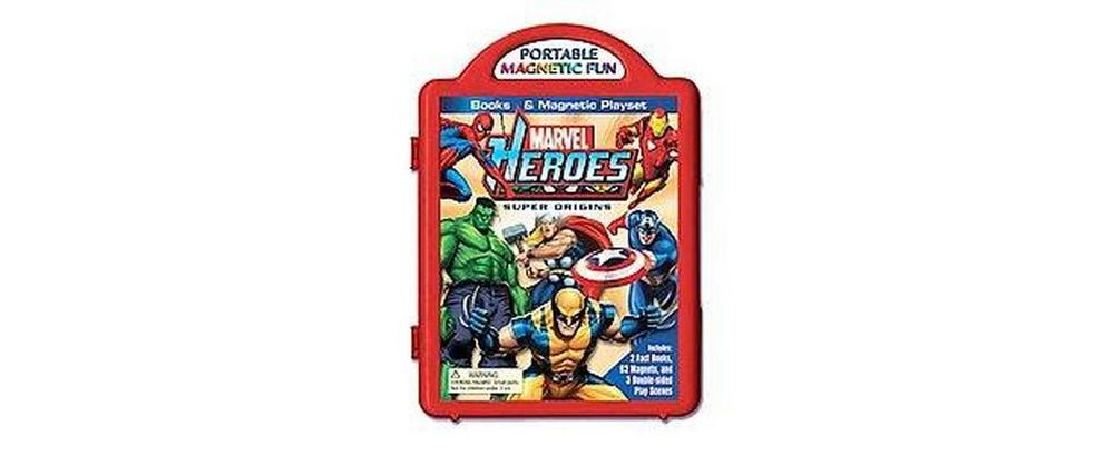 Marvel Heroes Super Origins Book & Magnetic Playset (Hardcover)