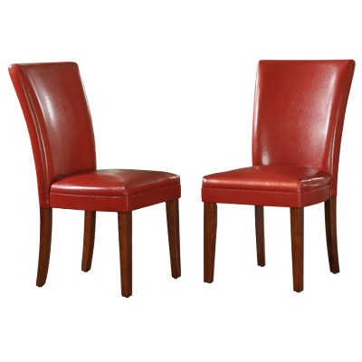 Elizabeth Parson Side Chair   Red (Set Of 2)   Inspire Q