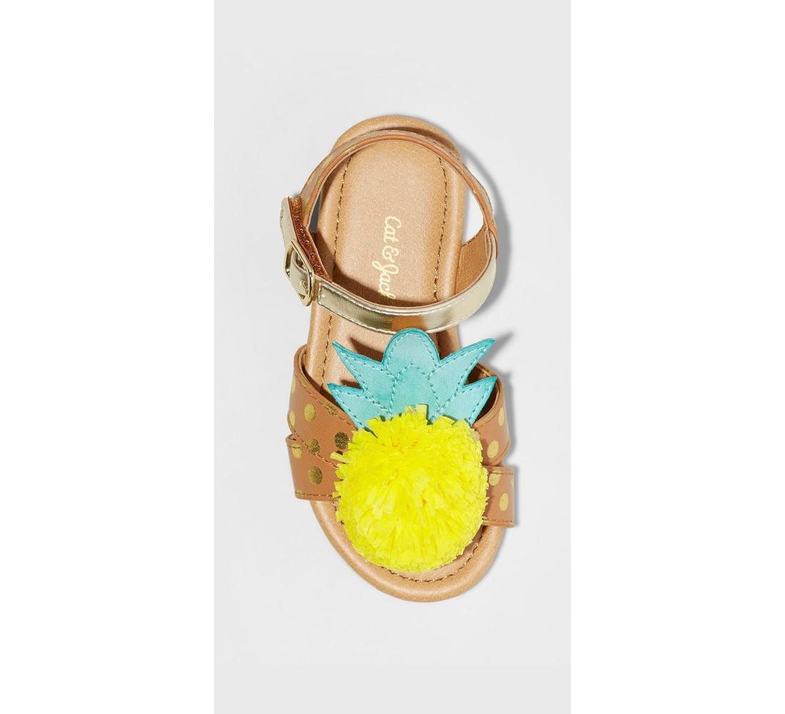 Toddler Girls' Gisela Pineapple Slide Sandals - Cat & Jack™