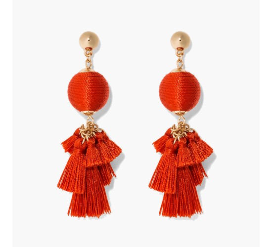 SUGARFIX by BaubleBar Ball Drop with Tassels Earrings