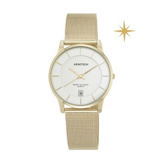 Armitron® Men's Mesh Bracelet Watch - Gold