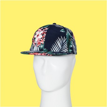 Men's Floral Print Slouch Baseball Hat - Goodfellow & Co™ Navy One Size