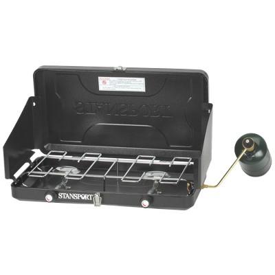 Stansport® Two Burner Propane Stove - Black