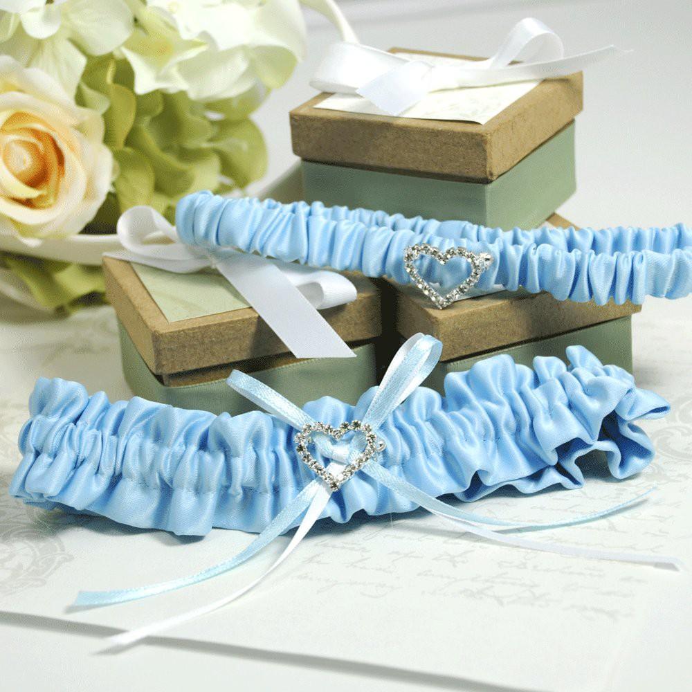 Blue Crush Wedding Garter, Womens