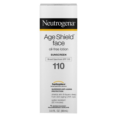 Neutrogena® Age Shield Face Oil-Free Sunscreen Lotion Broad Spectrum - SPF 110 - 3 fl oz
