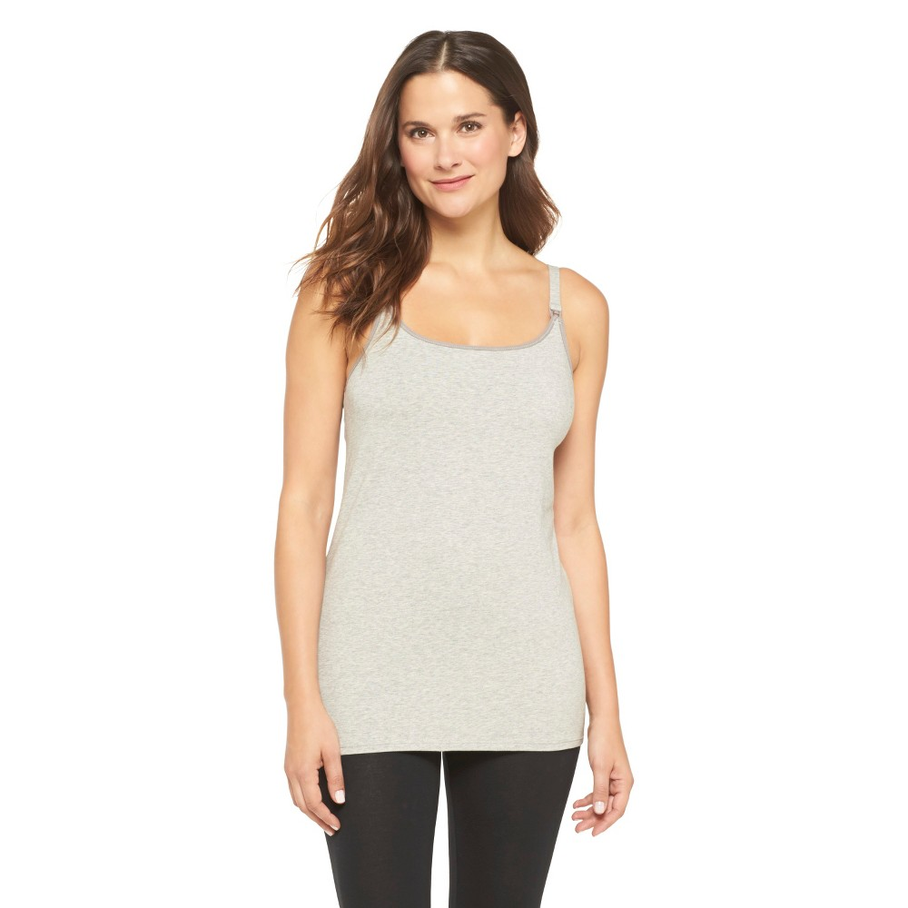 Womens Nursing Cotton Cami Heather Gray M