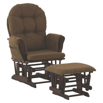 Storkcraft Hoop Cherry Frame Glider and Ottoman