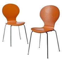 Set of 2 Modern Stacking Chair