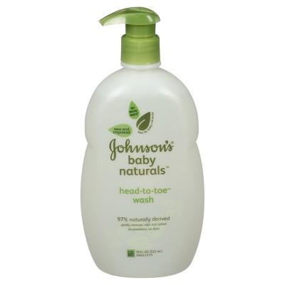 Johnson's Natural Head-to-Toe Foaming Baby Wash - 18 oz.