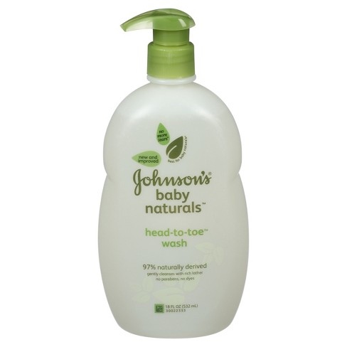 Johnson's Natural Head-to-Toe Foaming Baby Wash - 18 oz. - image 1 of 3