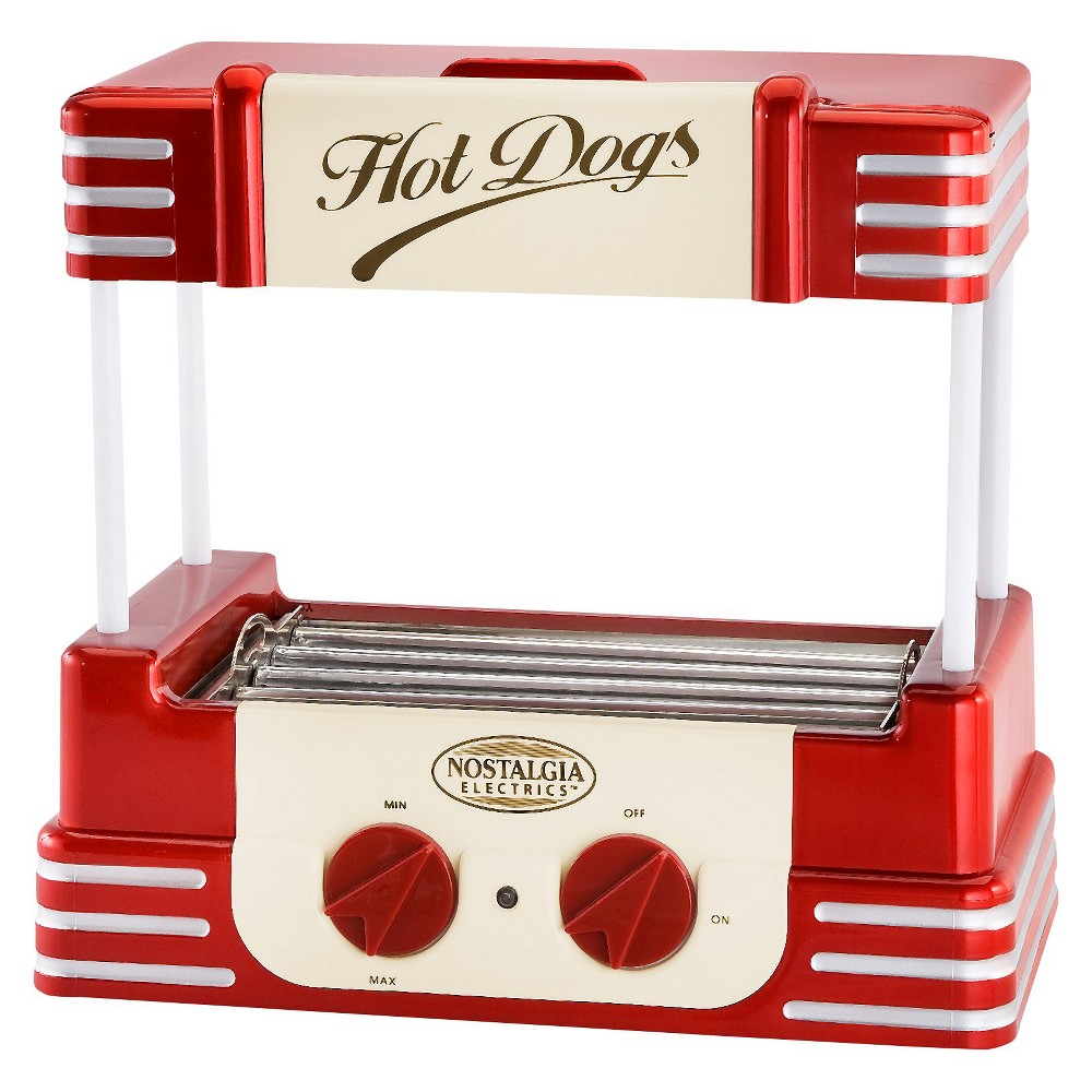 Nostalgia Retro Hot Dog Roller, Red