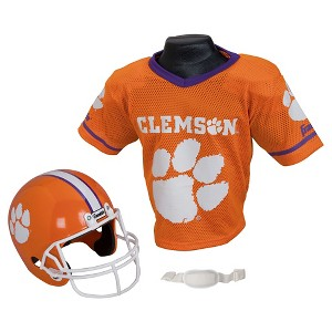 Franklin Sports NCAA Team Helmet and Jersey Set - Ages 5-9 - Clemson Tigers, Kids Unisex, Size: Small