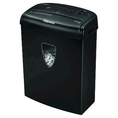 Fellowes® Powershred® H-8Cd Cross Cut Paper Shredder, 8 Sheets - Black