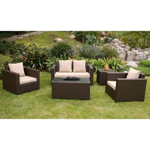 Khaki Metro Ii 5 Piece Patio Lounge Furniture Set Target