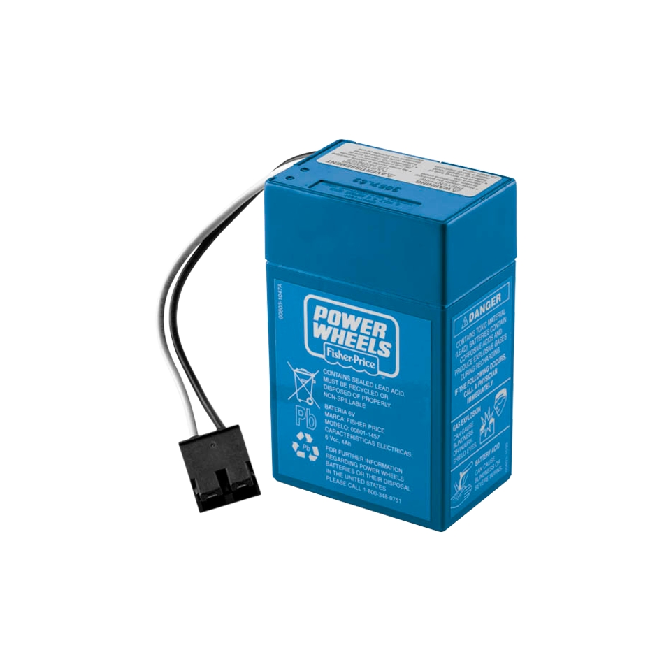Fisher Price Power Wheels 6 Volt Rechargeable Battery