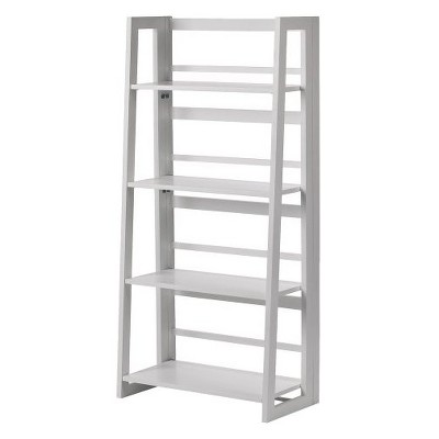 Dolce 4 Shelf Folding Bookcase White - Linon