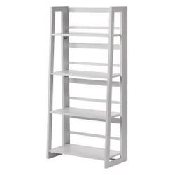 Dolce 4 Shelf Folding Bookcase White - Linon