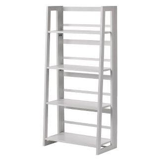 Dolce 48u0022 4 Shelf Folding Bookcase White - Linon