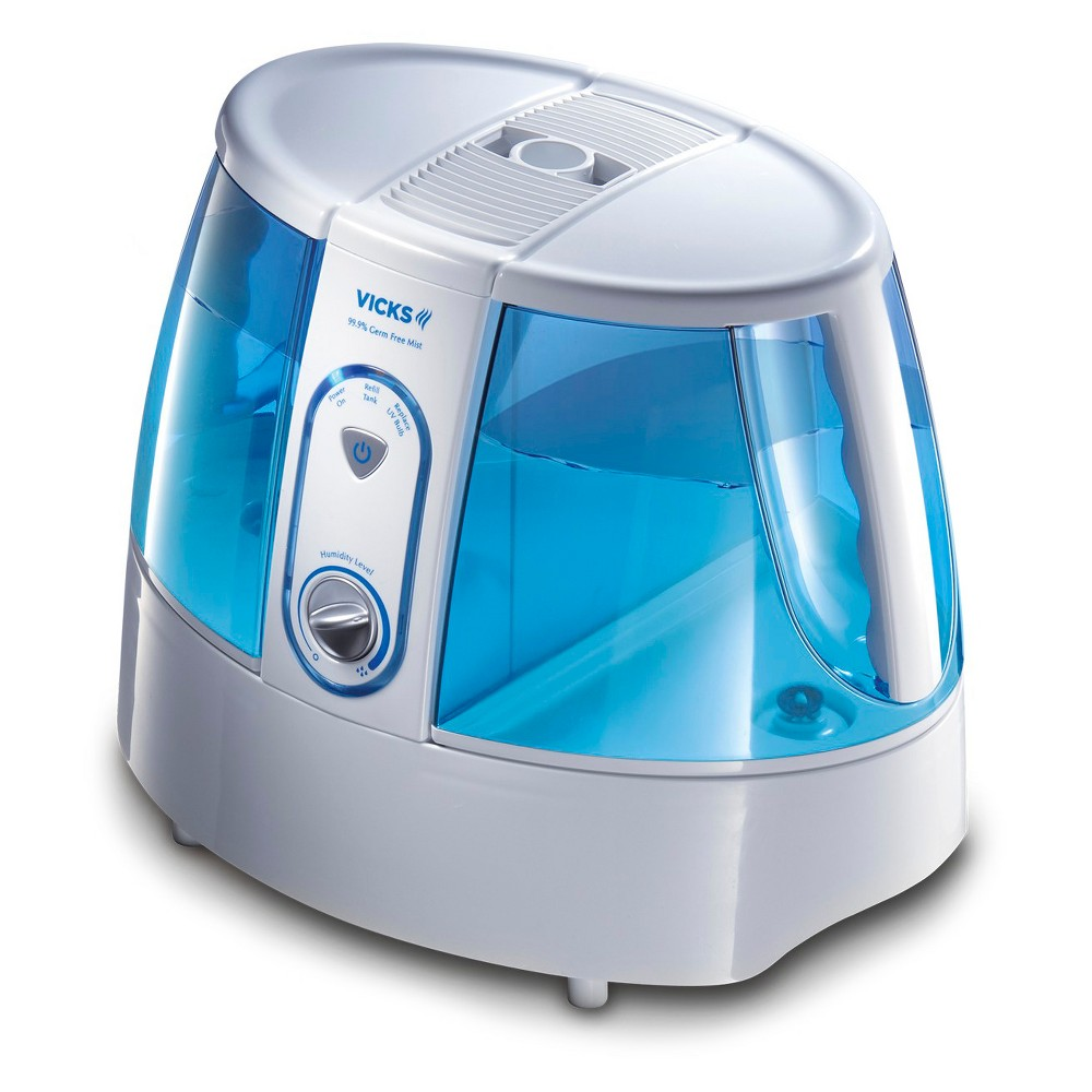 Vicks Germ-Free Warm Mist Humidifier - White/Blue