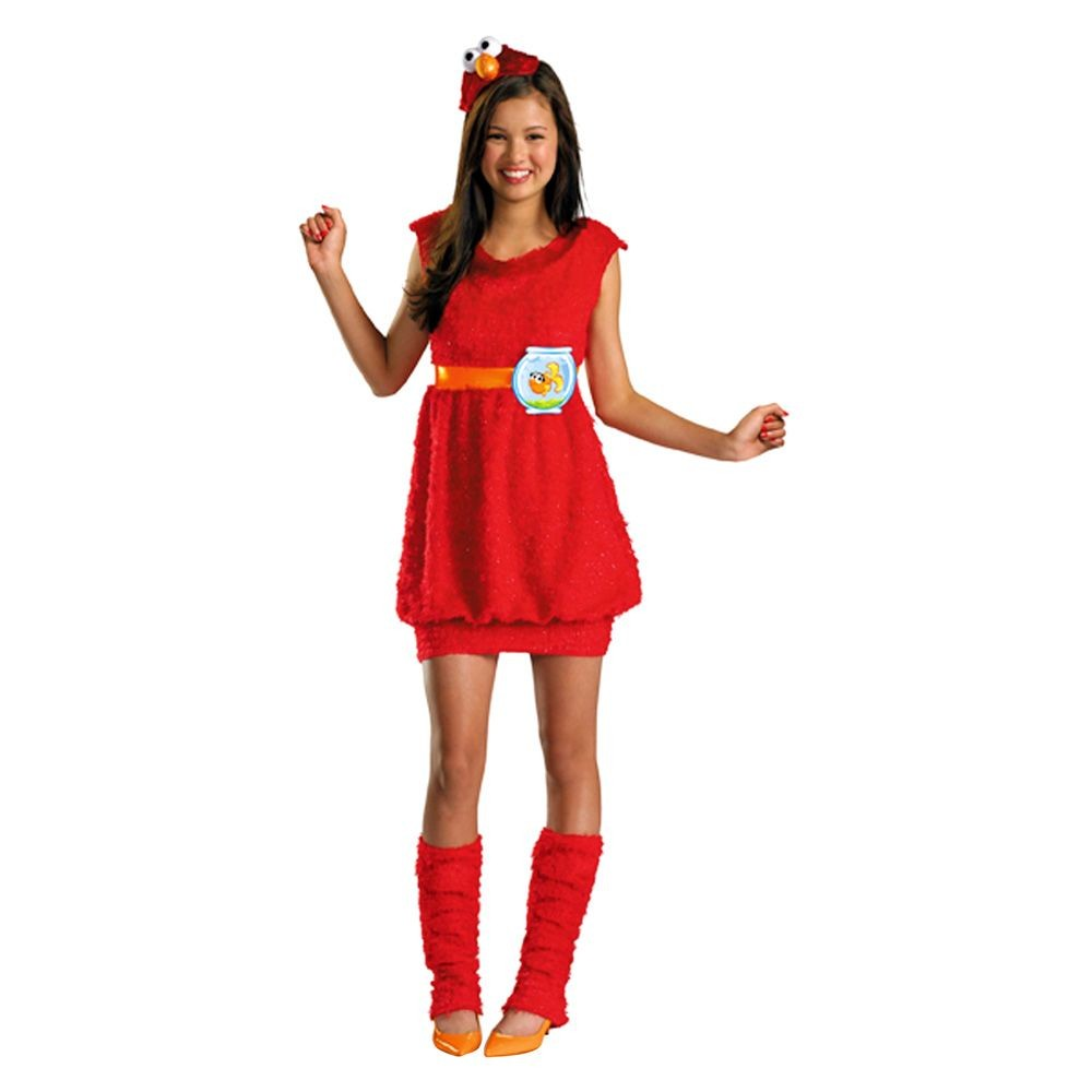 Sesame Street Girls Elmo Costume XL (14-16), Size: XL(14-16), Variation Parent