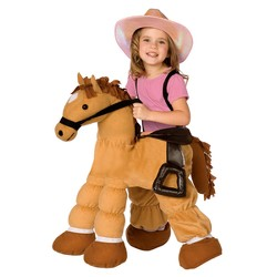 Girls' Plush Pony Costume Small 4-6