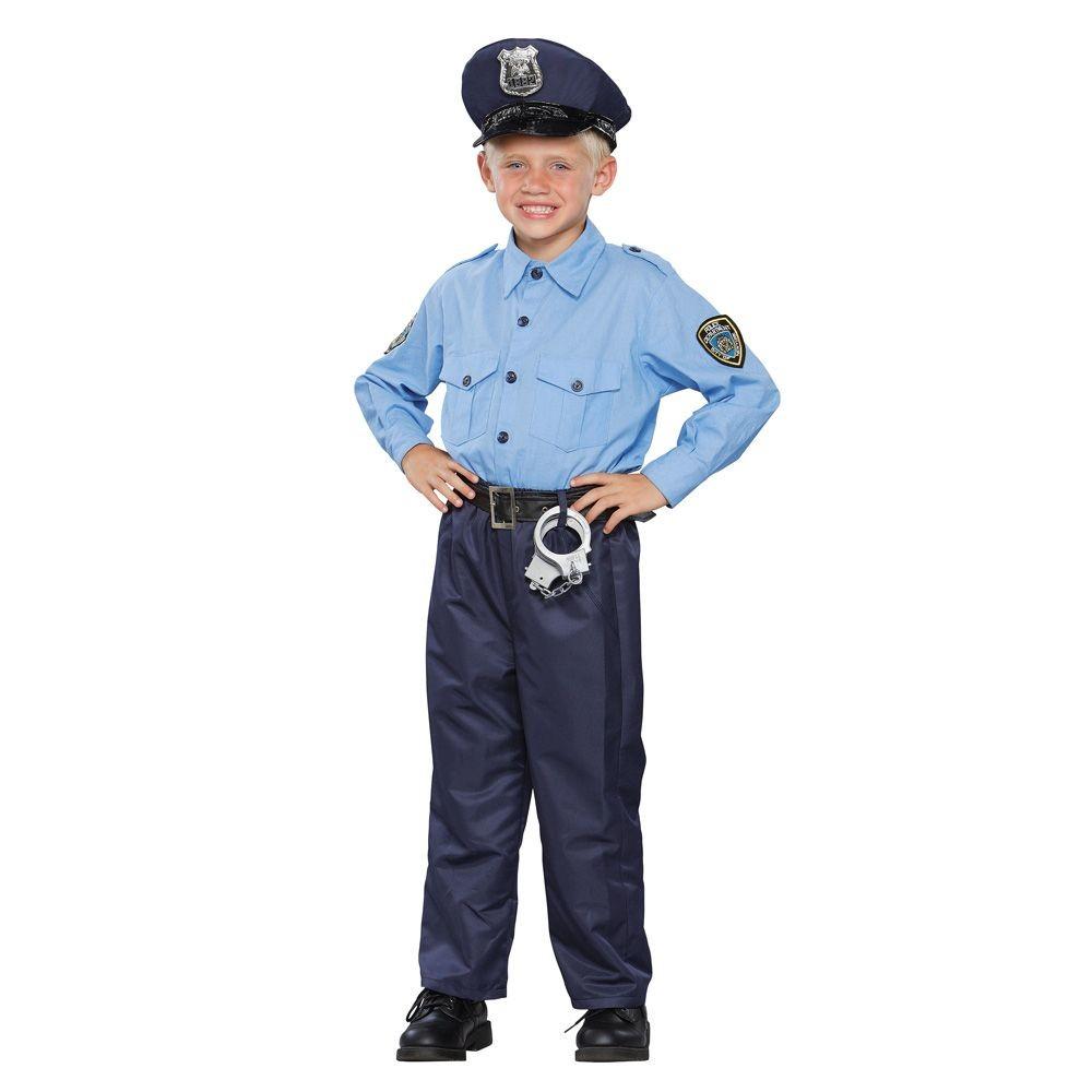 Boys Policeman Deluxe Costume Medium (8-10), Size: M(8-10), Variation Parent