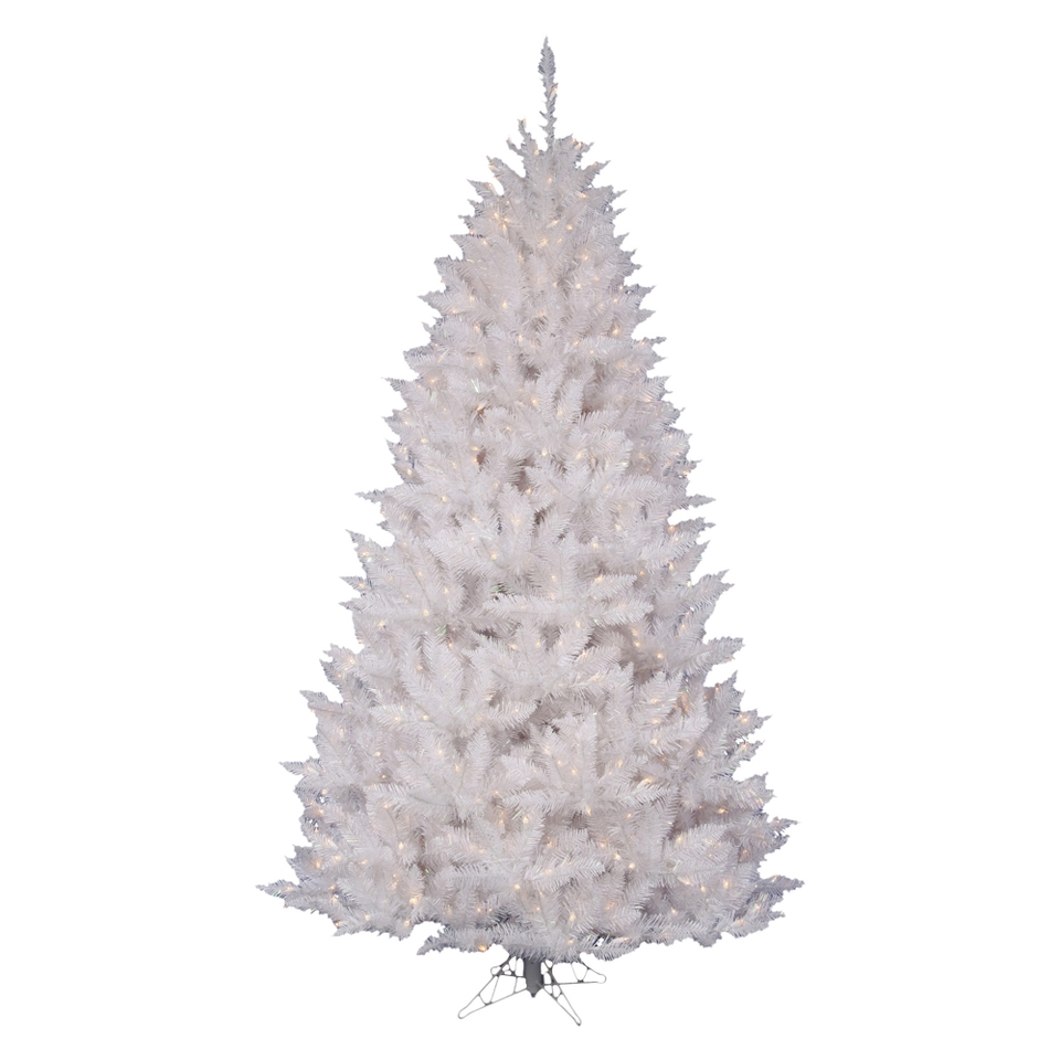6.5 Pre Lit White Spruce Tree   Clear Lights