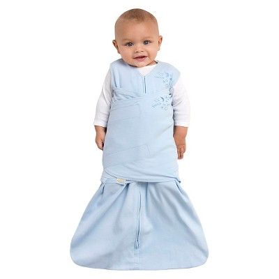HALO SleepSack 100% Cotton Swaddle - Baby Blue - Small