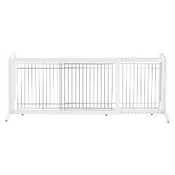 Richell Freestanding Dog Gate - Origami White