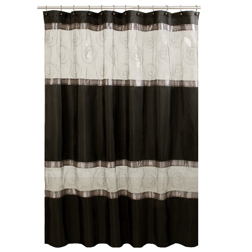 Black Shower Curtains marco fabric shower curtain - black : target