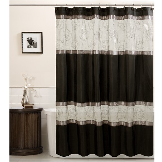 Best Brown And White Shower Curtain Contemporary - Best image 3D ...