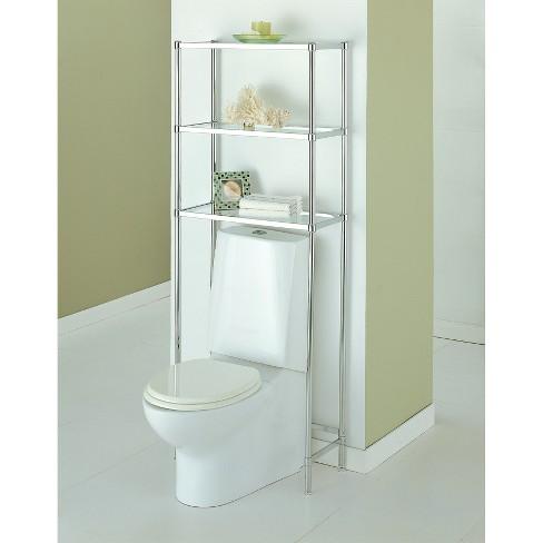 Neu Home Bathroom Spacesaver 3-Tier Shelf Unit - Chrome : Target