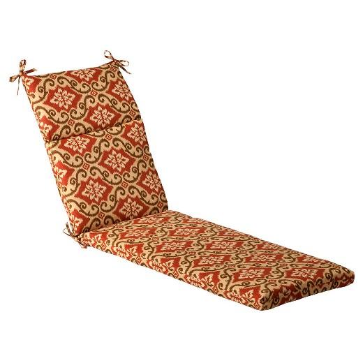 Outdoor chaise lounge cushion tan orange geometric target for Chaise cushion clearance