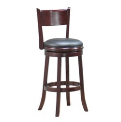 Palmetto Swivel Barstool Hardwood/English Tudor - Boraam