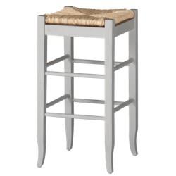 Rush Seat Barstool Hardwood/White - Boraam