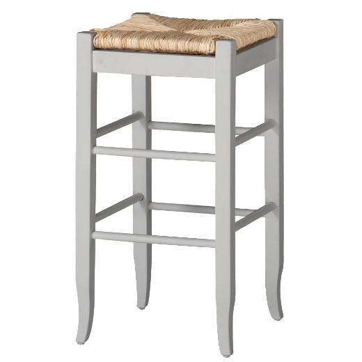 Rush Seat Barstool Hardwood White Boraam Target