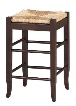 Rush Seat Counter Stool Hardwood Black Boraam Target