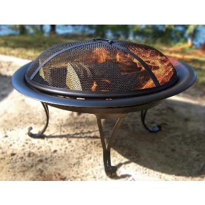 26  Steel Wood Burning Folding Firebowl - Round - Threshold™